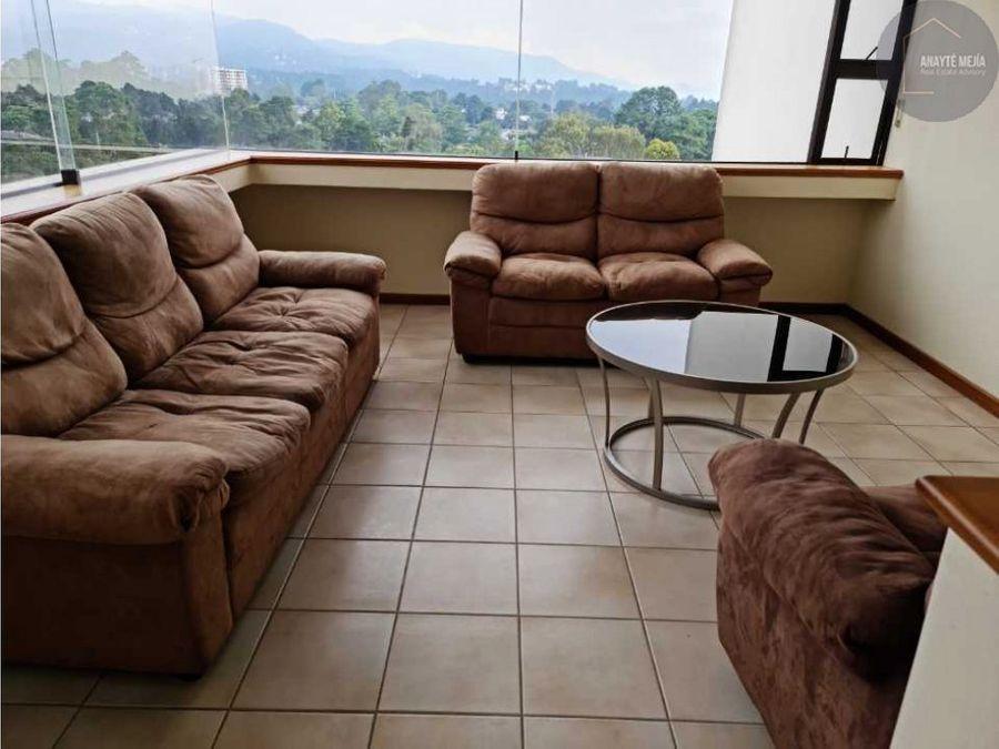 apartamento en renta en condominio las mercedes zona 14