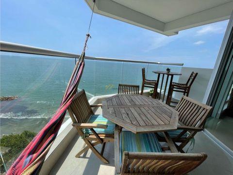 apartamento en venta bocagrqnde frente al mar