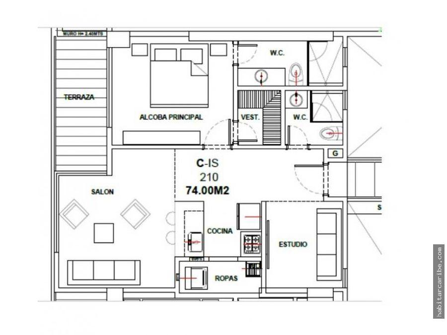 apartamento en venta en morros zoe