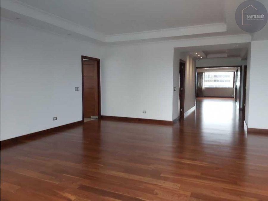 apartamento en venta en edificio murakami zona 14
