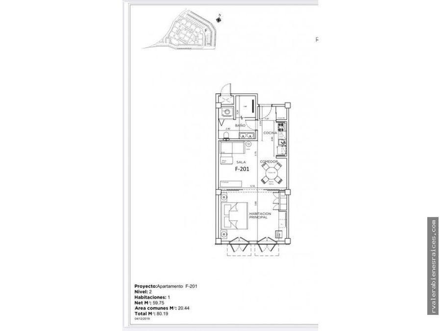 apartamento en venta en proyecto en bavaro pc