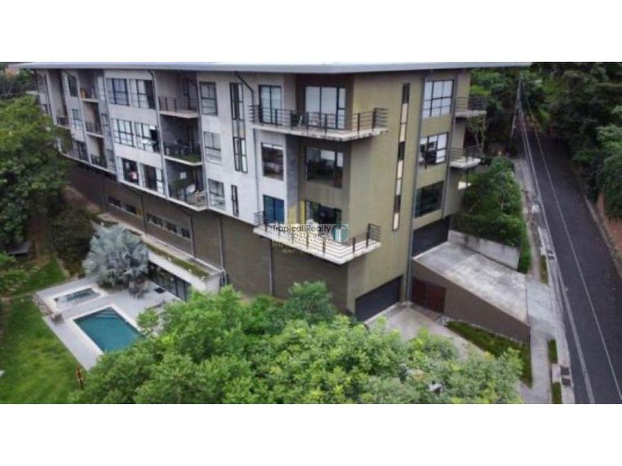 apartamento para alquiler en condominio ubicado en santa ana