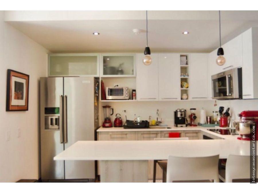 apartamento para alquiler con linea blanca condominio en santa ana