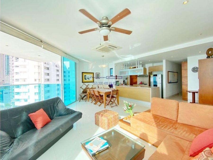 apartamento 3 alcobas en bocagrande edificio terrazas del mar en venta