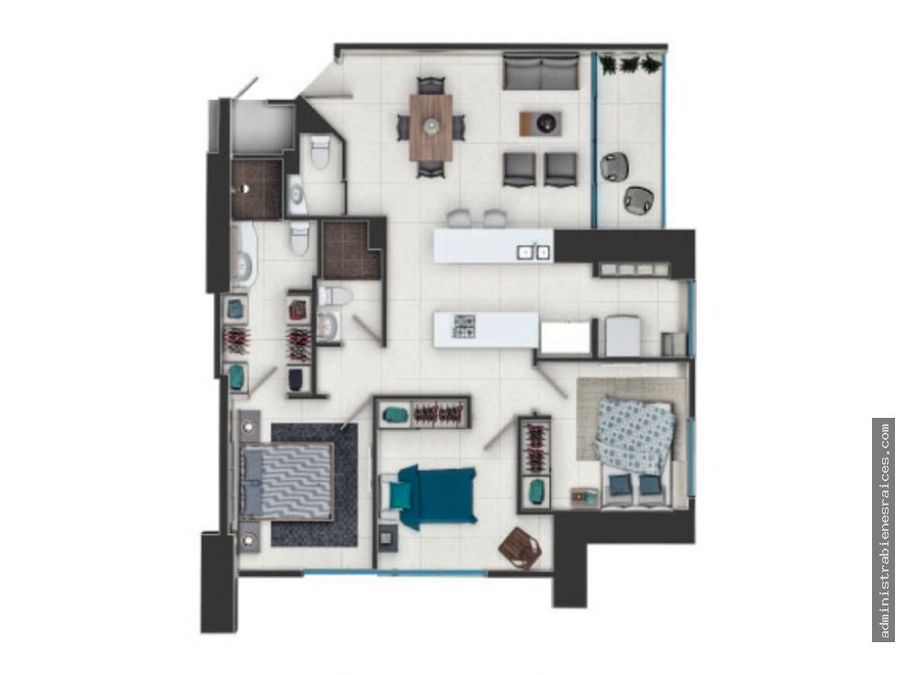 apartamento 3 alcobas pinares pereira