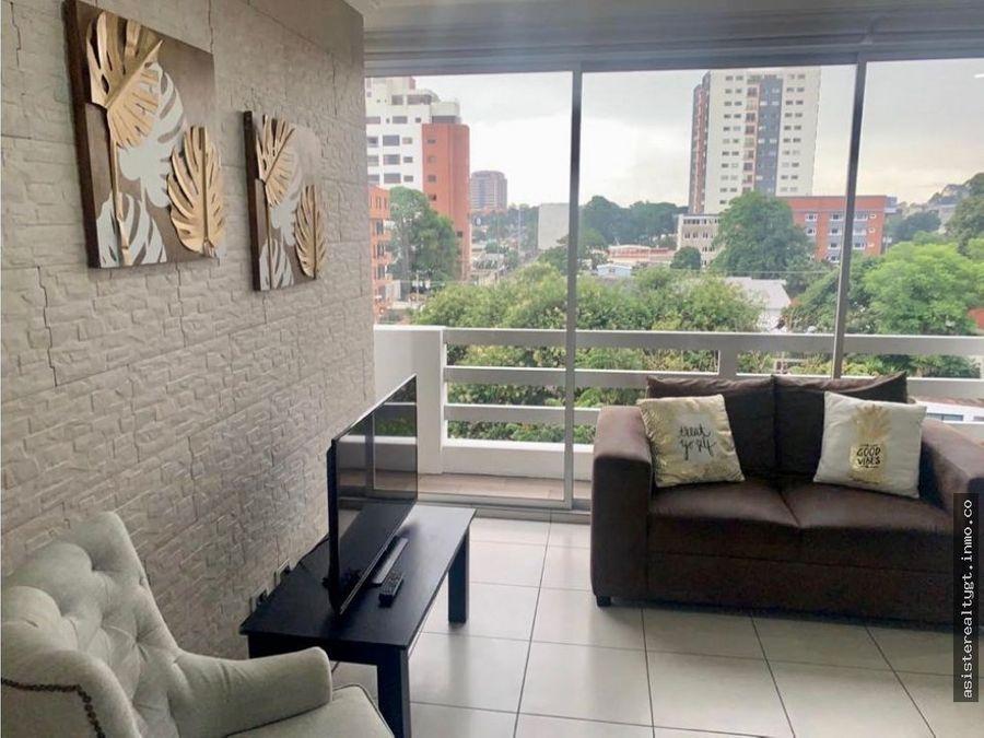 apartamento 3 habitaciones amueblado en renta zona 10