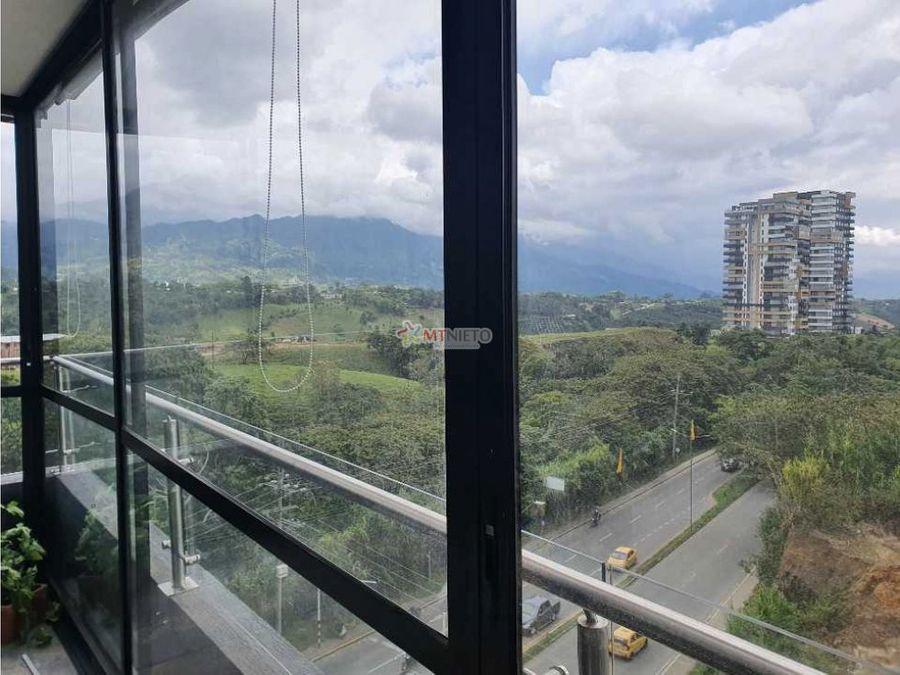 apartamento 3 alcobas 96 m2 balcon vista cordillera av centenario