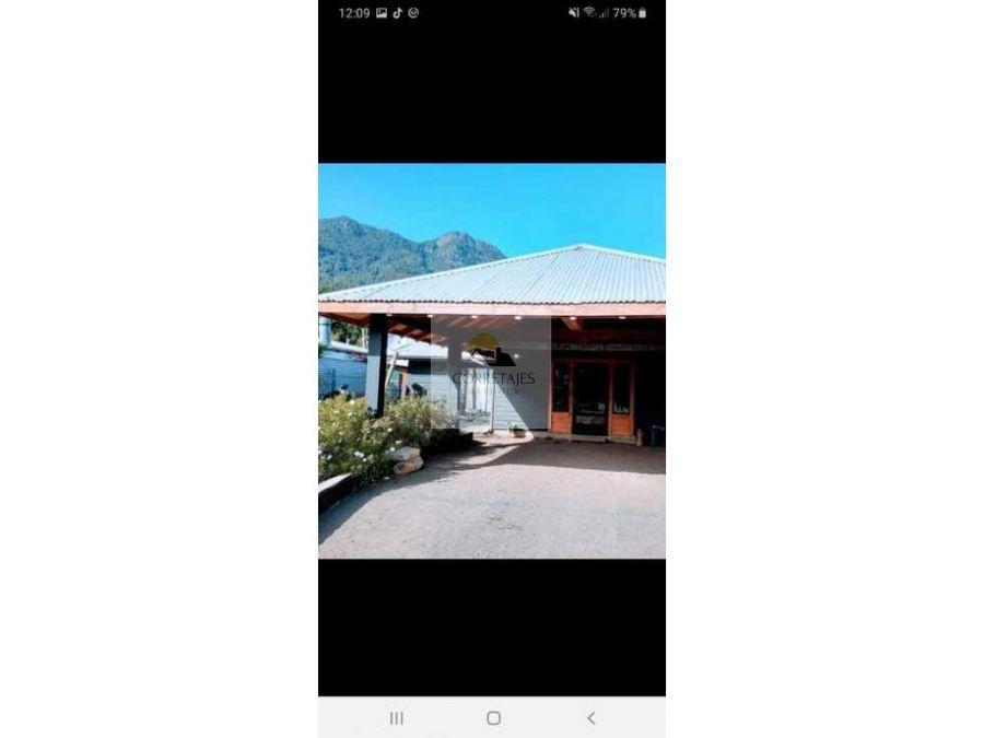 bella casa en sector el rodeo pucon frente aerodromo