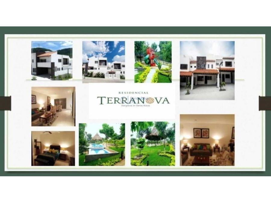 bellas casas y terrenos en venta en fracc terranova