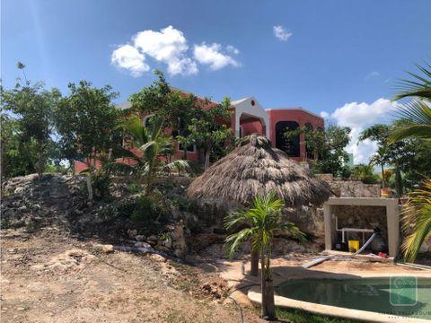 casa con piscina en renta en chichimila