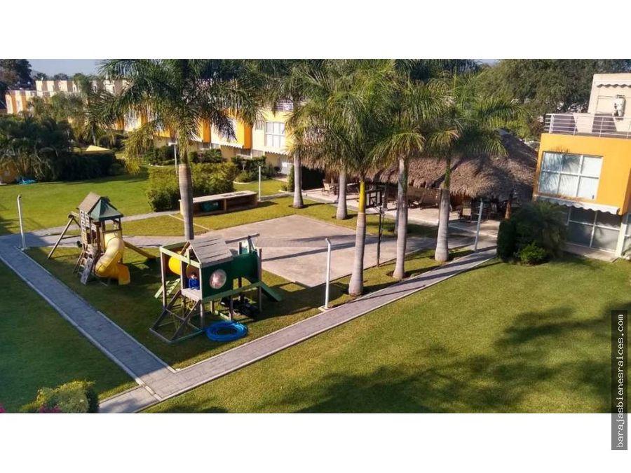 casa con alberca y jacuzzi en condominio oasis oaxtepec morelos