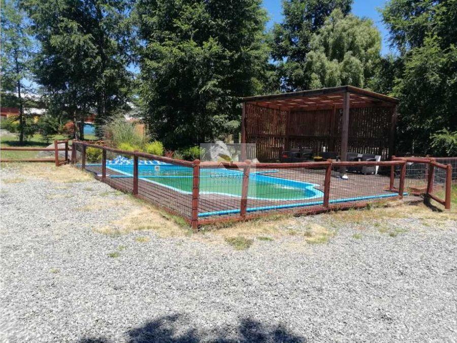 casa con piscina camino caburgua km 9