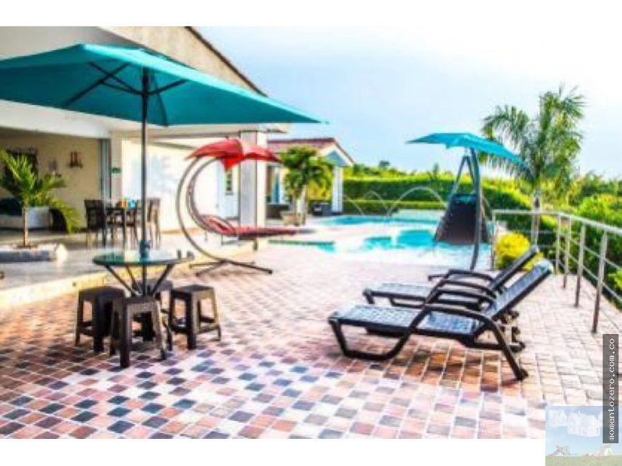 casa campestre en conjunto cerritos pereira con piscina en venta