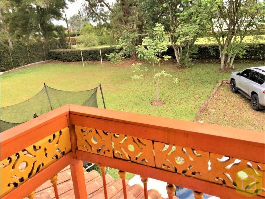 casa campestre en venta llanogrande rionegro