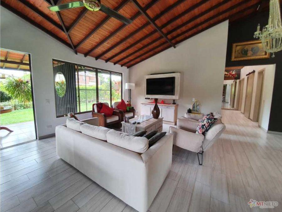 casa campestre lote 800 m2 casa 320 m2 condominio tebaida