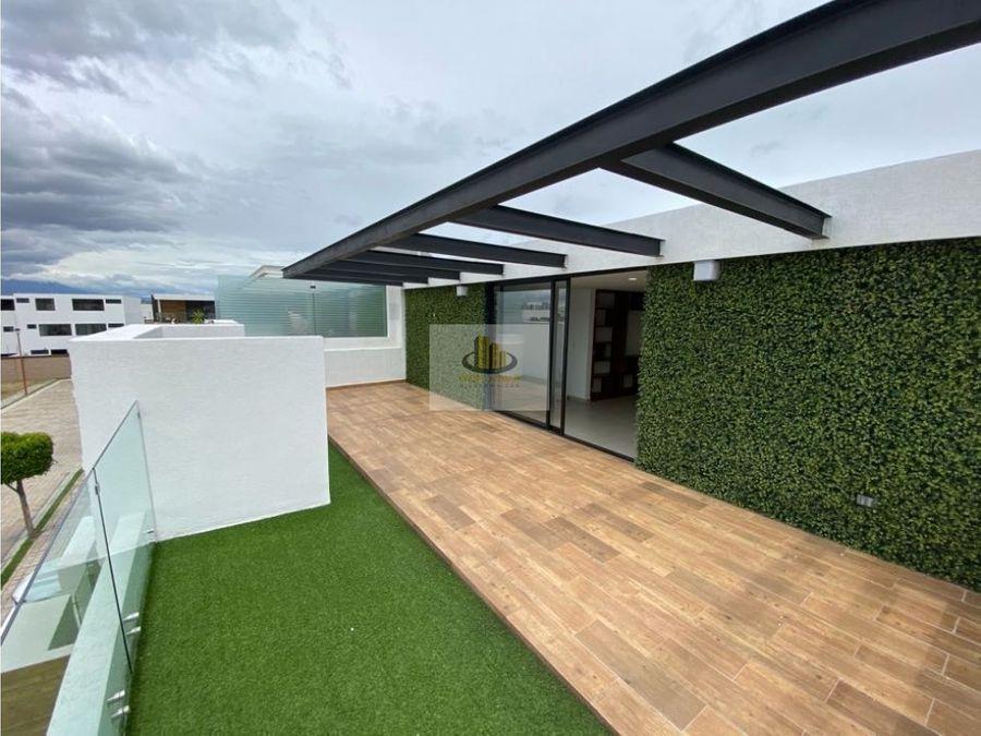 casa a estrenar venta frente area verde cascatta lomas angelopolis