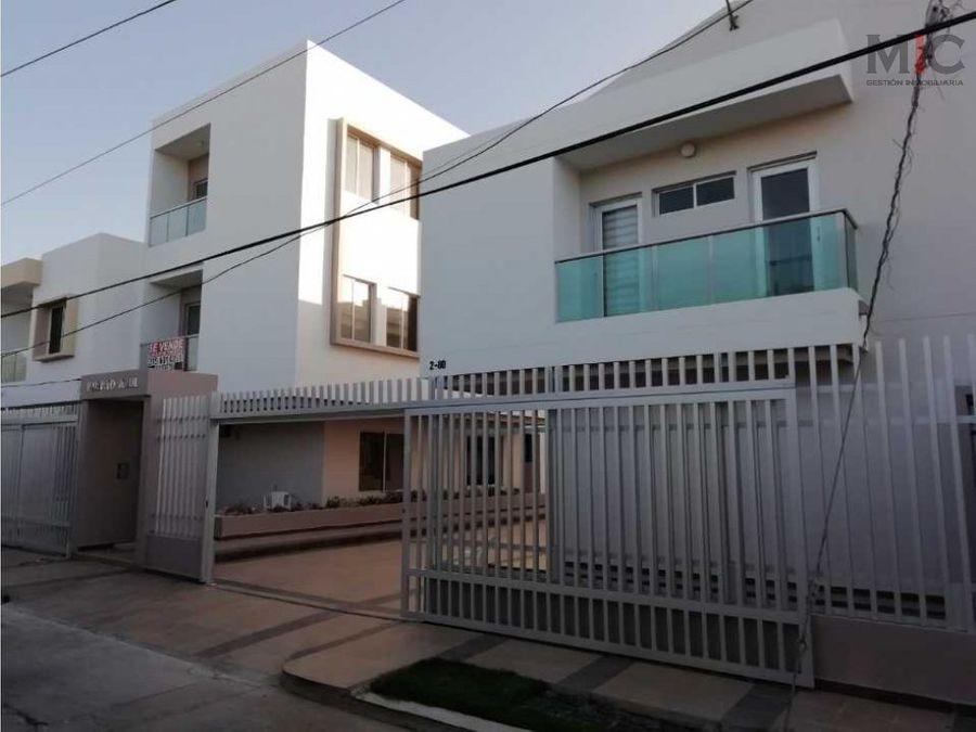 vendo casa en conjunto para estrenar puerto colombia