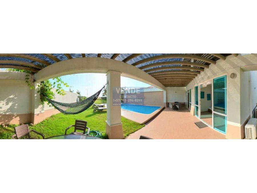 casa de playa piscina privada frente al mar caribe cartagena