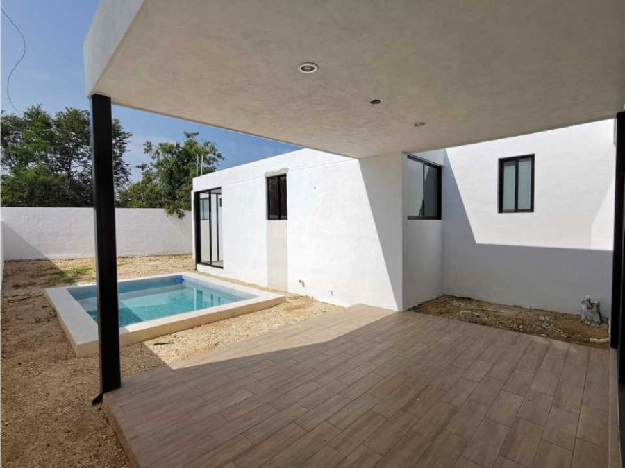 casa de un piso con amenidades en privada