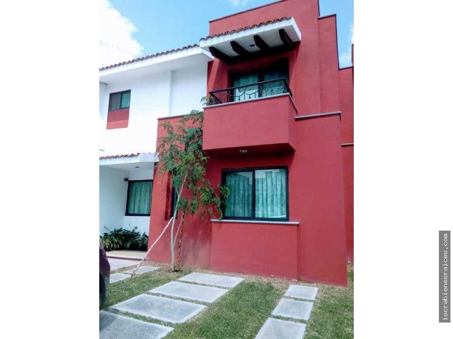 casa en conjunto de colores en oaxtepec