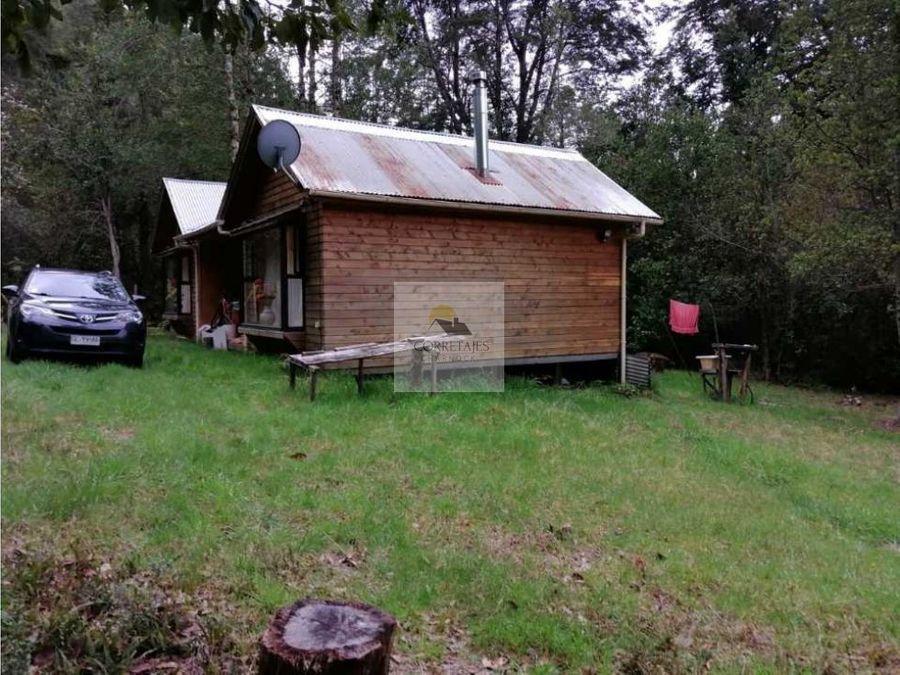 casa en parcela caburgua bajo ideal descanso apta para credito
