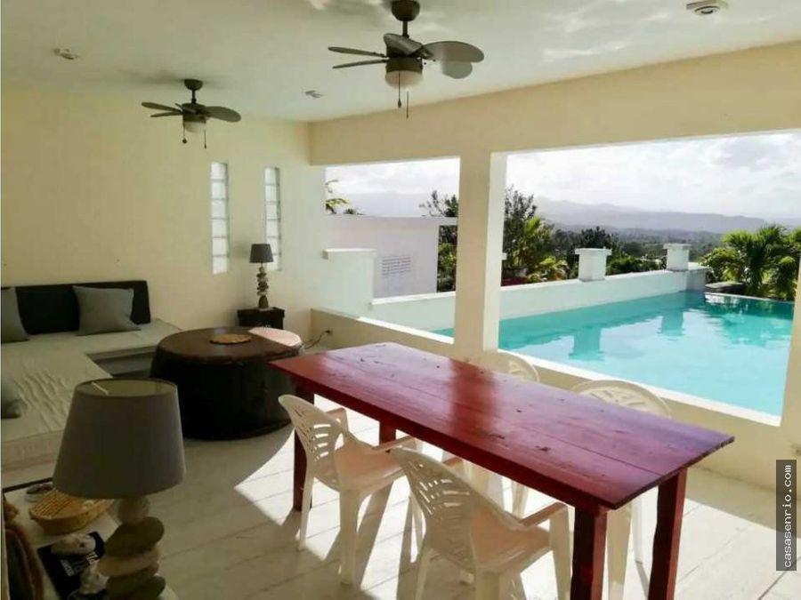 casa en rio san juan para alquiler con vista panoramica y piscina