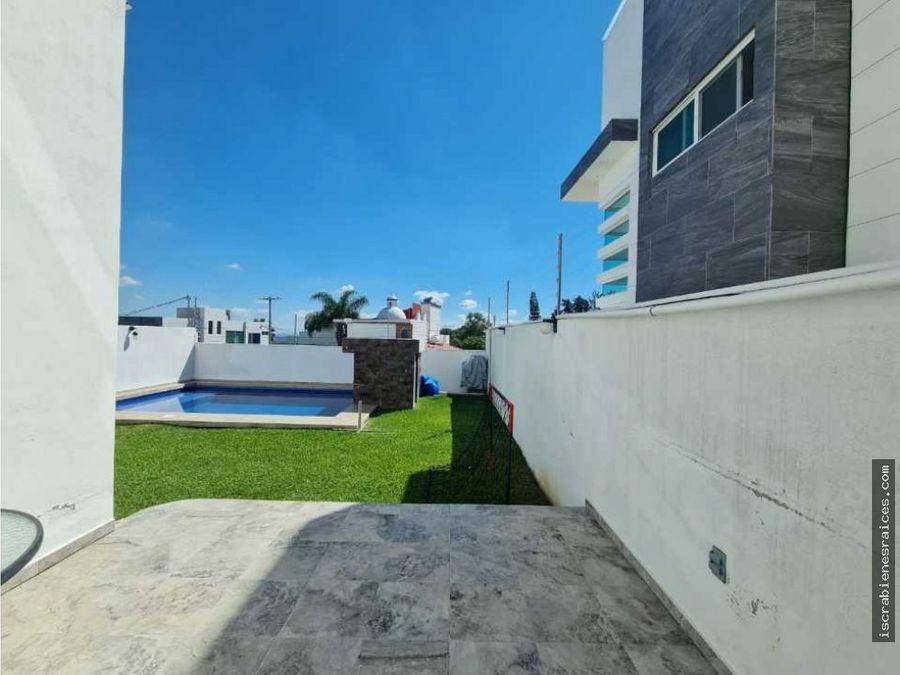 casa en renta por ano en fraccionamiento jardines de tlayacapan