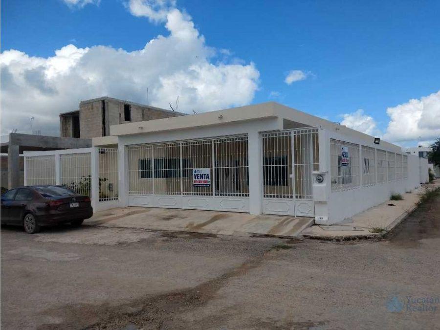 casa en venta de una planta zona norte dzitya