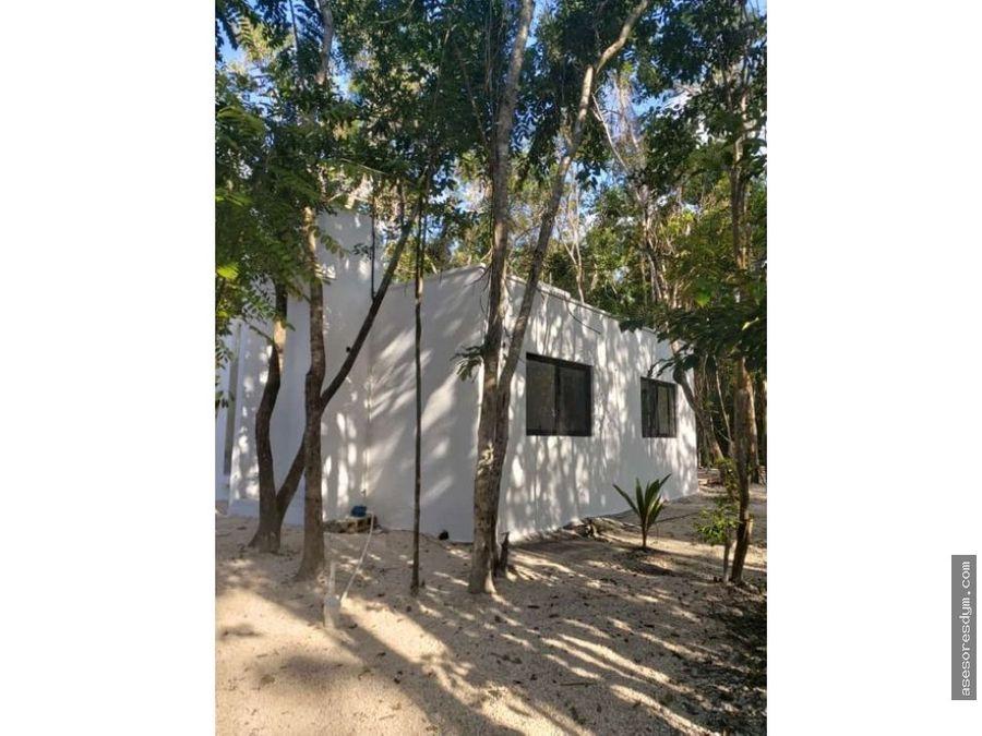 casa en venta en muyil a solo 15min de tulum qroo