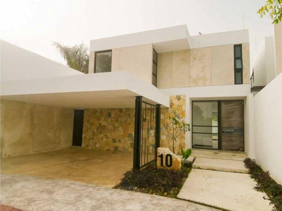 casa en venta en temozon norte merida en privada residencial simaruba