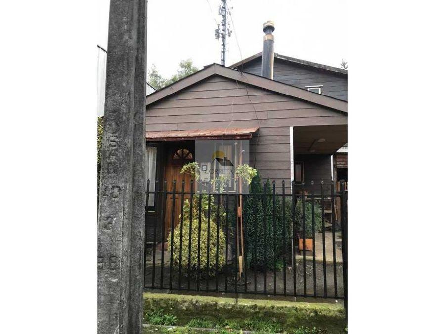 casa en venta villa los jardines del claro pucon