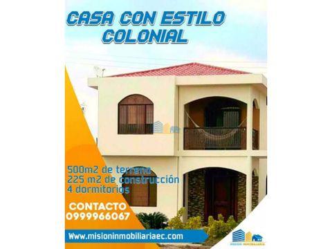 casa estilo colonial de 4 habitaciones amplia y segura
