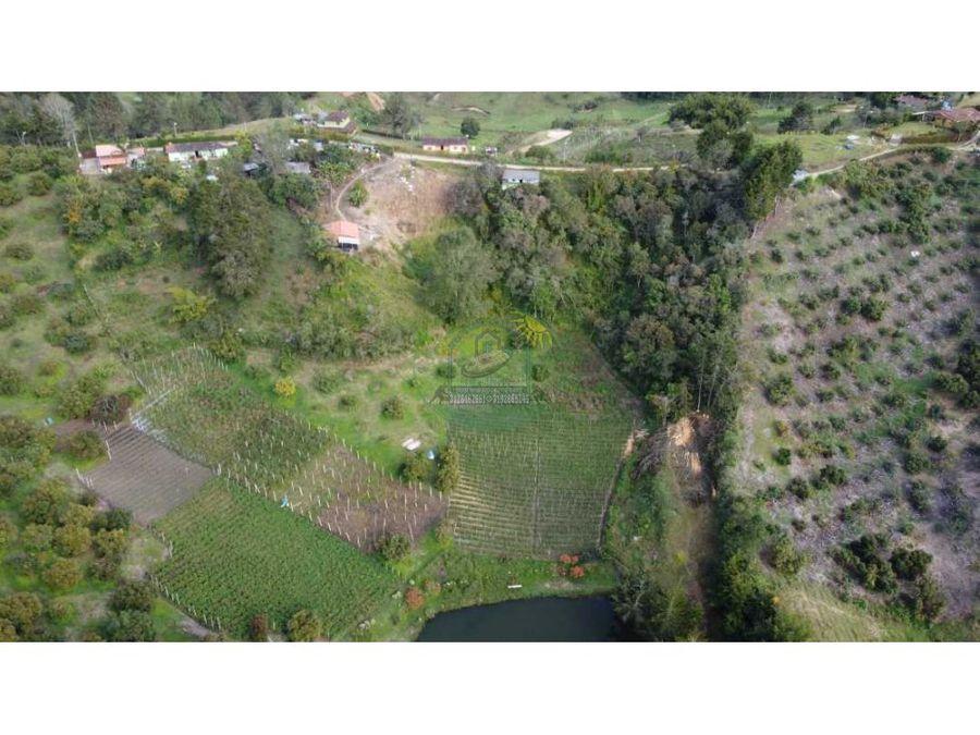 casa lote en rionegro vereda santa barbara con terreno de 4000 m2