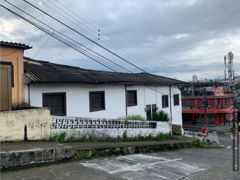 casa lote esquina barrio colombia manizales