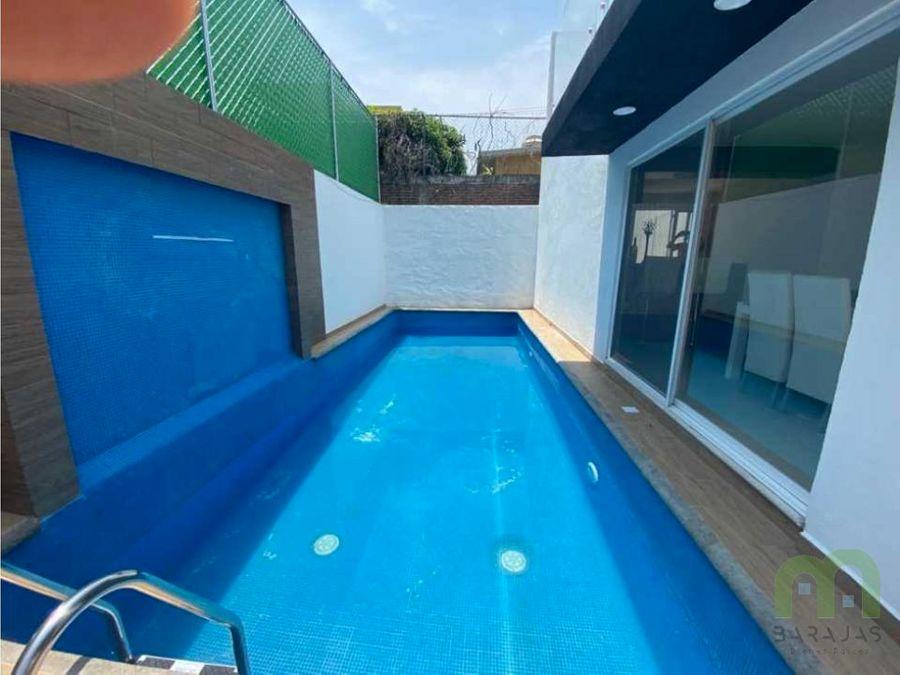 casa sola recidencial en venta con piscina en emiliano zapata morelos