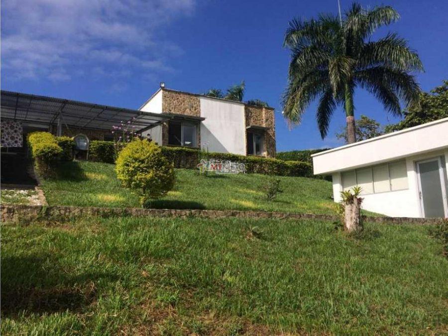 casa campestre 4500 m2 lote y casa 600 m2 via pueblo tapado