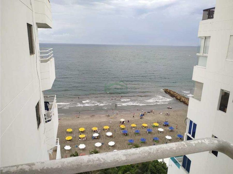 cartagena venta apto de 2 alcobas en bocagrande frente al mar