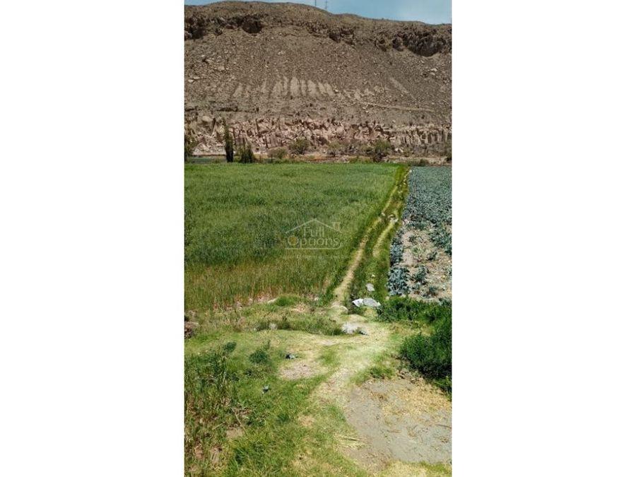 vendo chacra de 6300 m2 en valle del chilina