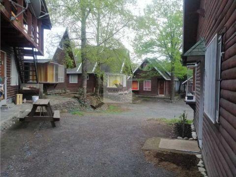 complejo de 4 cabanas y 4 deptos pucon central