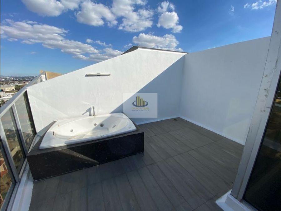 departamento 143 mts en cholula con jacuzzi y roof garden