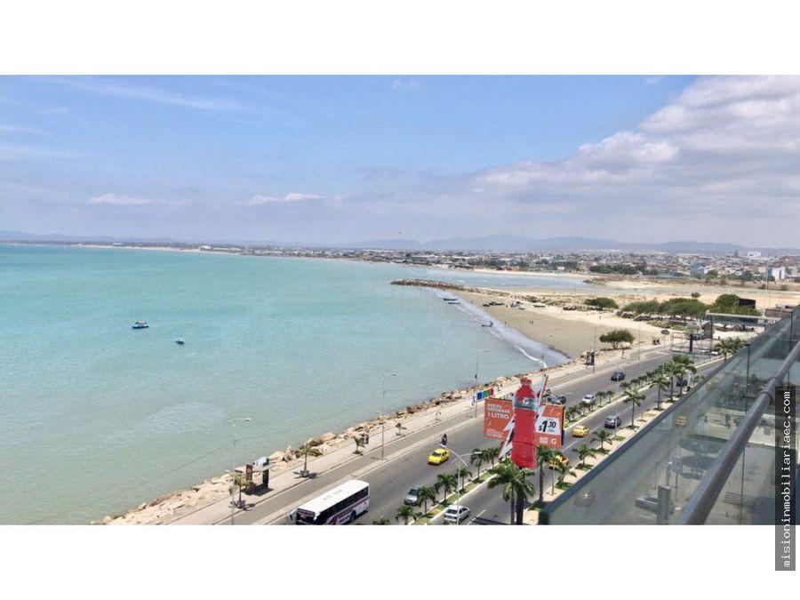 departamento con hermosa vista al malecon y al mar