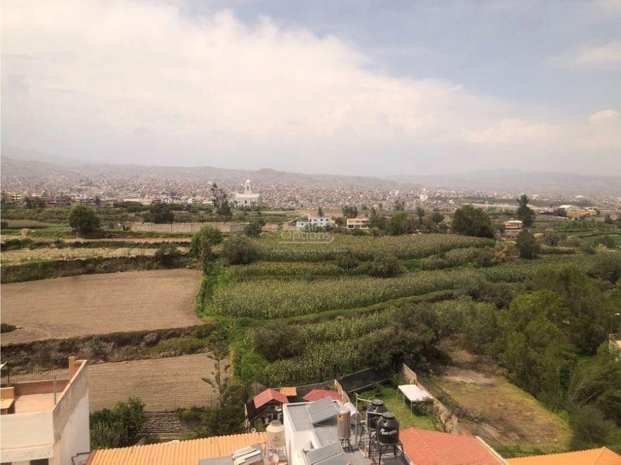 departamento con vista panoramica en cayma