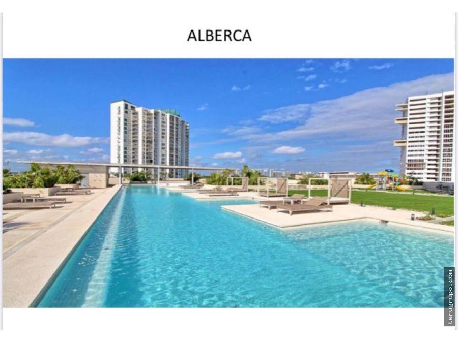 departamento de 3 recamaras en puerto cancun con vista al mar piso 19