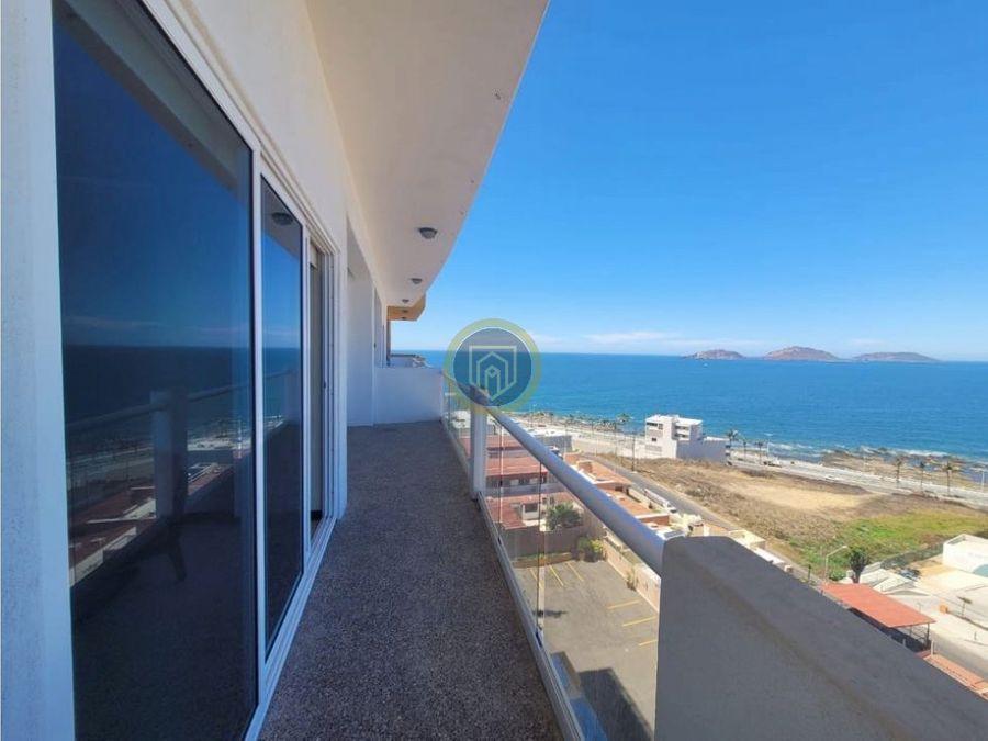 departamento en venta frente a la playa mazatlan puerto viejo skies