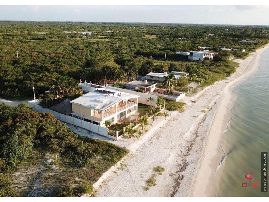 excelente residencia frente al mar celestun yuc