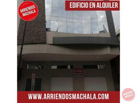alquiler edificio machala el oro ecuador