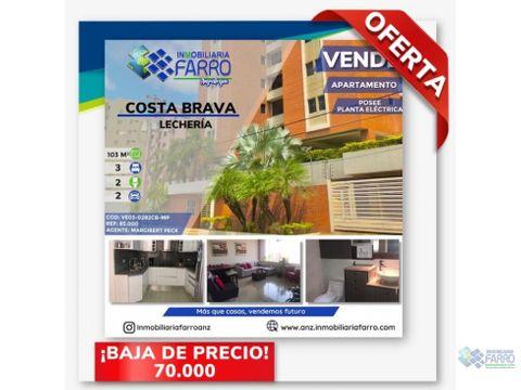 en venta apartamento casco central de lecheria ve03 282cb mp
