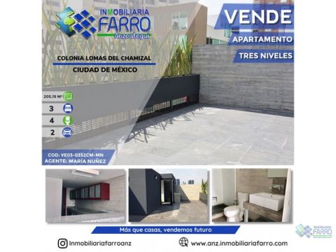 en venta apartamento ciudad de mexico ve03 0352cm mn