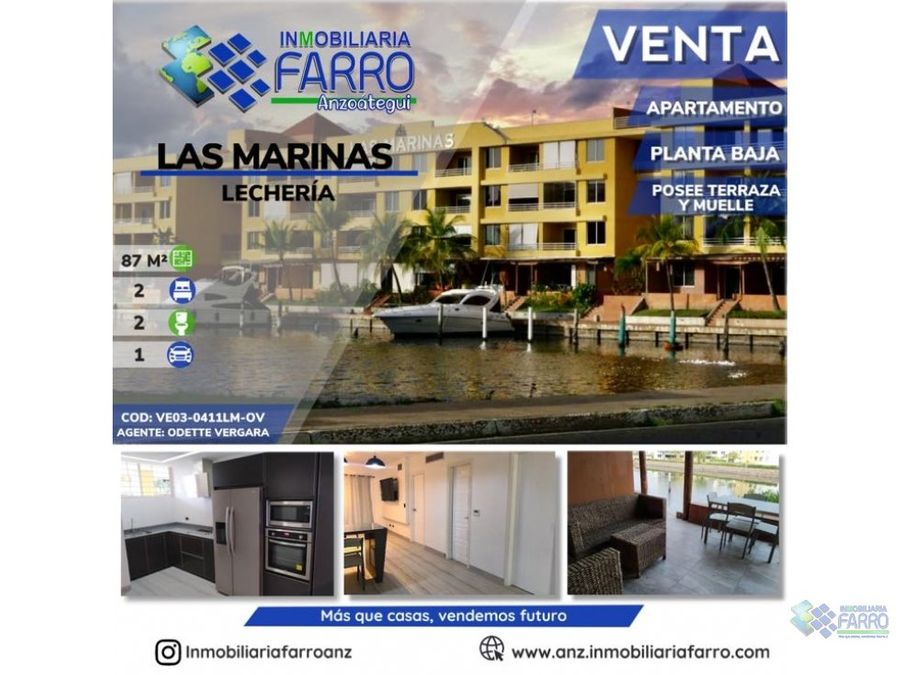en venta apartamento en las marinas lecheria ve03 0411lm ov