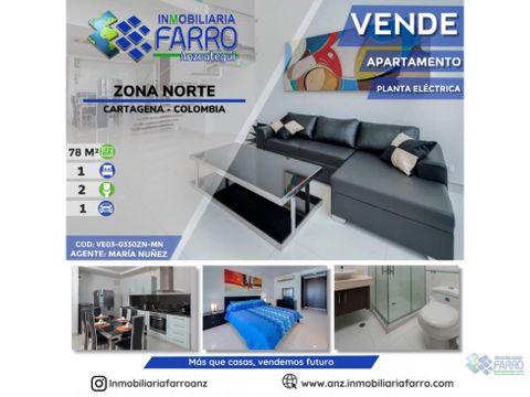 en venta apartamento en zona norte cartagena ve03 0330zn mn